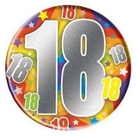 18 Today Massive Badge, Size 150mm